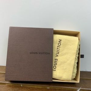Authentic Louis Vuitton box and dust bag